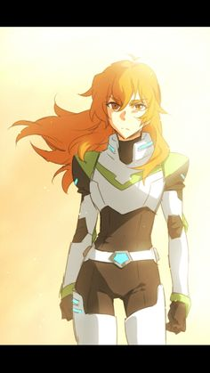 Pidge with long hair