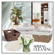 """""""Spring Fresh"""" by enchantedseptember ❤ liked on Polyvore featuring interior, interiors, interior design, home, home decor, interior decorating, National Tree Company, Cost Plus World Market, Creative Bath Products and Jane Seymour Botanicals"""