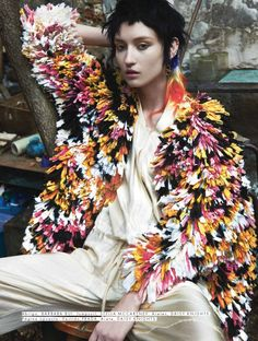 """Alex Yuryeva is """"The New Eve"""" by Emmanuel Giraud for Elle Mexico August 2015"""