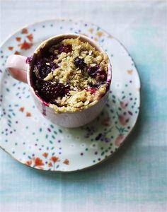 Almond-Berry Mug Cake from Mug Cakes by Mima Sinclair, photos by Tara Fisher (Kyle Books)