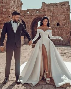 30 Totally Unique Fashion Forward Wedding Dresses ❤ fashion forward wedding dresses simple strapless neckline with sleeves saidmhamad #weddingforward #wedding #bride #weddingoutfit #bridaloutfit #weddinggown