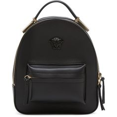 Versace Black Mini Medusa Backpack (5.835.280 COP) ❤ liked on Polyvore featuring bags, backpacks, black, backpack bags, handle bag, rucksack bags, versace and mini backpack