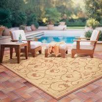 an outdoor rug...cozy