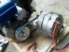 How to Build an Engine/Alternator Generator Putting it Together Motor Generator, Inverter Generator, Diy Electronics, Electronics Projects, Electric Go Kart, Homemade Generator, Alternative Energy Sources, Emergency Power, Diy Cnc