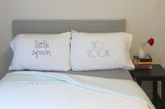 Big Spoon Little Spoon Pillow Cases for couples, Weddings, Love Pillowcases, His and Hers Pillows Couples Pillow on Etsy, $37.38 CAD
