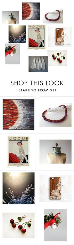 """Oh So Vogue"" by inspiredbyten on Polyvore featuring interior, interiors, interior design, home, home decor, interior decorating, WALL, red and etsy"