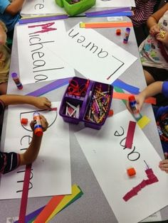 Colors GALORE! Crafts, Rainbow names and Mr. Roy G. Biv!