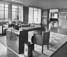 Working area or office area at Villa Isola circa 1930s