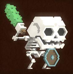 Skeleton with a club by Giuseppe Longo aka @Mis_BUG