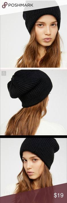 Free People all day every day slouchy beanie NWOT. black. not that slouchy Free People Accessories Hats
