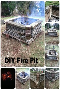 These fire pit ideas and designs will transform your backyard. Check out this list propane fire pit, gas fire pit, fire pit table and lowes fire pit of ways to update your outdoor fire pit ! Find 30 inspiring diy fire pit design ideas in this article. Easy Fire Pit, Large Fire Pit, Metal Fire Pit, Concrete Fire Pits, Fire Fire, Ash Fire, Diy Concrete, Concrete Blocks, Fire Pit Ring