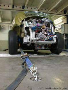 VW Beetle with a lot of motor
