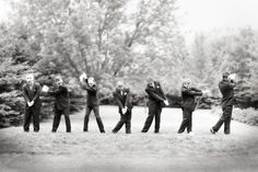 The requisite groomsmen photo