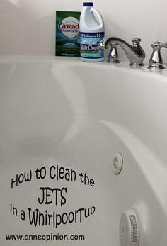 How to Clean the Jets in a Jet Tub. All you need is ONE Ingredient ...