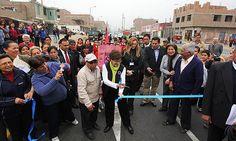 La alcaldesa de Lima inauguró la avenida Santa Rosa en San Juan de Lurigancho
