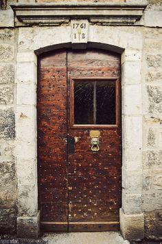 Door, Salins-les-Bains, France