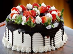 Buy cake online – Floracake is a best online cake delivery Delhi shop offering tasty birthday cake. Search our wide selection of birthday cake delivery online. Birthday Cake Hd, Happy Birthday Cake Pictures, Strawberry Birthday Cake, Birthday Cake With Photo, Beautiful Birthday Cakes, Beautiful Cakes, Birthday Wishes, Birthday Quotes, Birthday Greetings