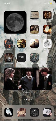 Harry Potter App, Always Harry Potter, Harry Potter Decor, Draco Malfoy, Iphone Wallpaper App, Phone Organization, Homescreen, Cute Wallpapers, Screens