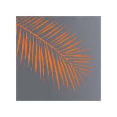 Orange Palm Wall Art.