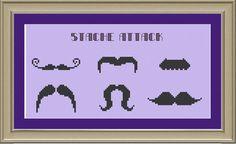 Mustache cross stitch?!?! I'm doin it.