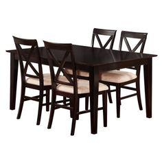 Atlantic Furniture Shaker 5 Piece Dining Set in Espresso