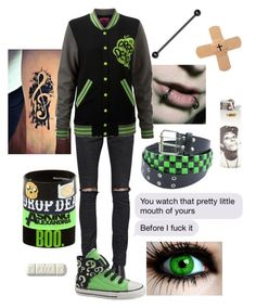 """""""Did you catch your own reflection in the knife my mother held?"""" by shelbybauer ❤ liked on Polyvore featuring Yves Saint Laurent and Converse"""