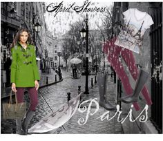 """April Showers in Paris"" by joannepodagrosi on Polyvore"