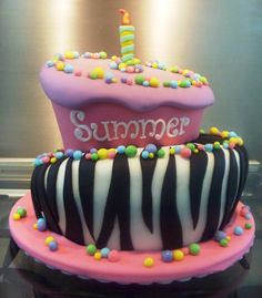 Safari Print cake