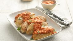 Pan-fried chicken is made delicious with this Italian addition of romesco sauce. Looking to save even more time? Make this sauce ahead, and let stand at room temperature 30 minutes before serving for dinner in 20 minutes.