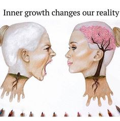 Inner growth changes our reality. Getting this pin from my daughter makes me know lessons are taking root. Pictures With Deep Meaning, Top Imagem, Meaningful Pictures, Satirical Illustrations, Deep Art, Reality Quotes, Words Quotes, Sayings, Positive Quotes