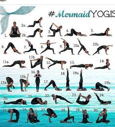 Mermaid yoga!