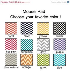 BLACK FRIDAY SALE  mousepad / Mouse Pad / Mat round or by Laa766 chic / cute / preppy / laptop accessory / desk, computer accessory / office decor / gift / patterned design / school