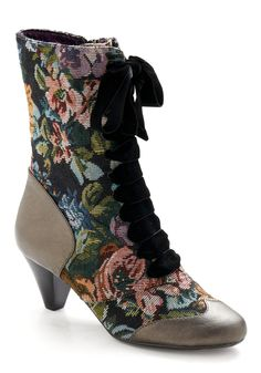 I like to kick! and stretch! in Victorian granny boots.  $170 by Poetic License