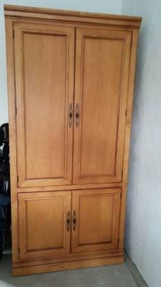 Office Armoire. 22 Deep. 38 Wide 80 Tall. Bottom Door Stops At 28