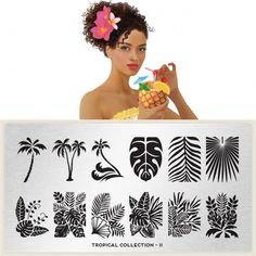 MoYou Nail Art design Image Plates - Tropical Collection plate 11