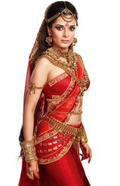Pooja Sharma as Draupadi- heavy ornamentation