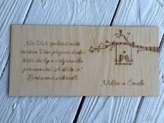 Dřevěné přání do obálky