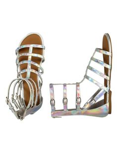 Super shiny Gladiator Sandals from Justice will delight any fashion-crazed Tween!