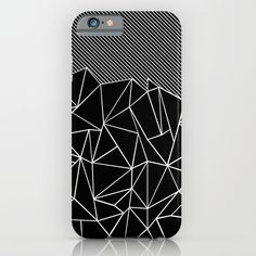 Ab Lines 45 Black iPhone & iPod Case