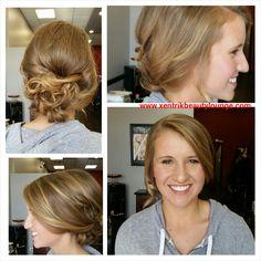 Homecoming hair and makeup. #makeup #hairstyle