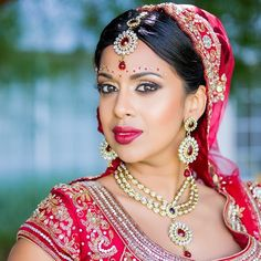 In honor of #NationalLipstickDay - I'm sharing my Indian bridal look! I chose a red ombré lip to complement my stunning red lehenga. Will be posting more pics of my bridal look on Classtige soon ❤️