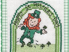 Luck of the Irish | Cross Stitching    I stitched this, I want to make it into an ornament for my tree.
