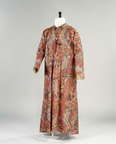 1740-1770, India (fabric), the Netherlands (made) - Dressing gown - Painted cotton, wool, silk