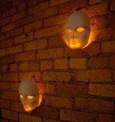 Glow sticks behind masks