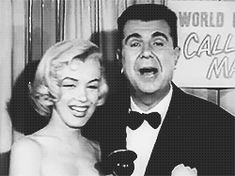 Marilyn with Ken Murray at the premiere of Call Me Madam, March 4, 1953.
