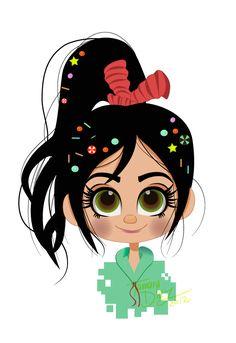 Vanellope von Schweetz by tamarushka on DeviantArt Disney Wiki, Disney And Dreamworks, Disney Pixar, Disney Characters, Cinderella Disney, Disney Princesses, Disney Canvas Art, Disney Fan Art, Disney Love