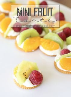 This Mini Fruit Snack recipe via @blminghomestead is easy to throw together using things you have on hand. Top RITZ® Crackers with favorite fresh fruit and enjoy. Simple and totally delicious - the perfect easy after school snack! Put It On A RITZ® AD Put It On A RITZ® Sweeps AD