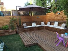 Terrace built with overlay and trillage technique by Mónica Lubbert . Modern Garden Design, Terrace Design, Deck Design, Small Backyard Pools, Backyard Patio Designs, Backyard Landscaping, Terrace Building, Outdoor Fireplace Designs, Outdoor Living