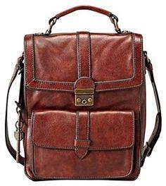 82ebcf65bc02 Fossil Vintage Revival Double Flap Shoulder Bag Leather Bag