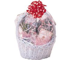 Clear cello basket bag appreciation gift ideas for all occasions clear cello shrink wrap basket bag gift bags and wrap housewarming gifts entertaining negle Image collections
